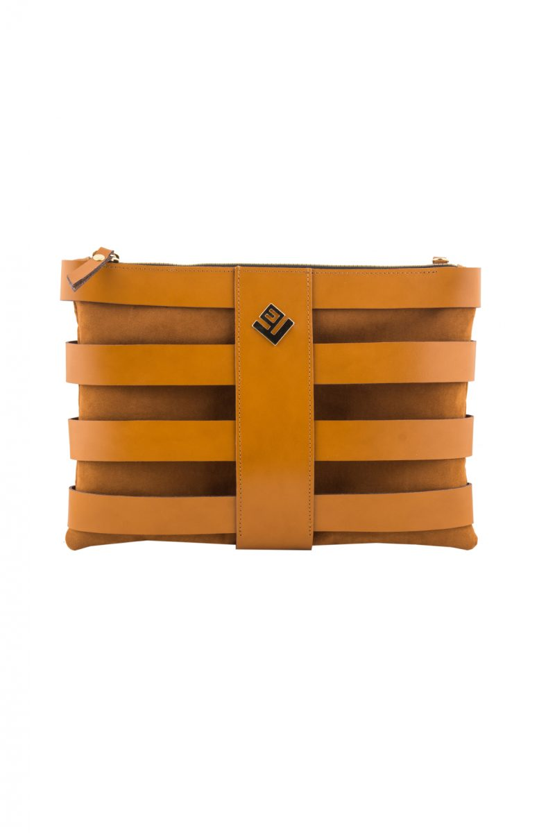 Claudia Leather Necessaire Tabac
