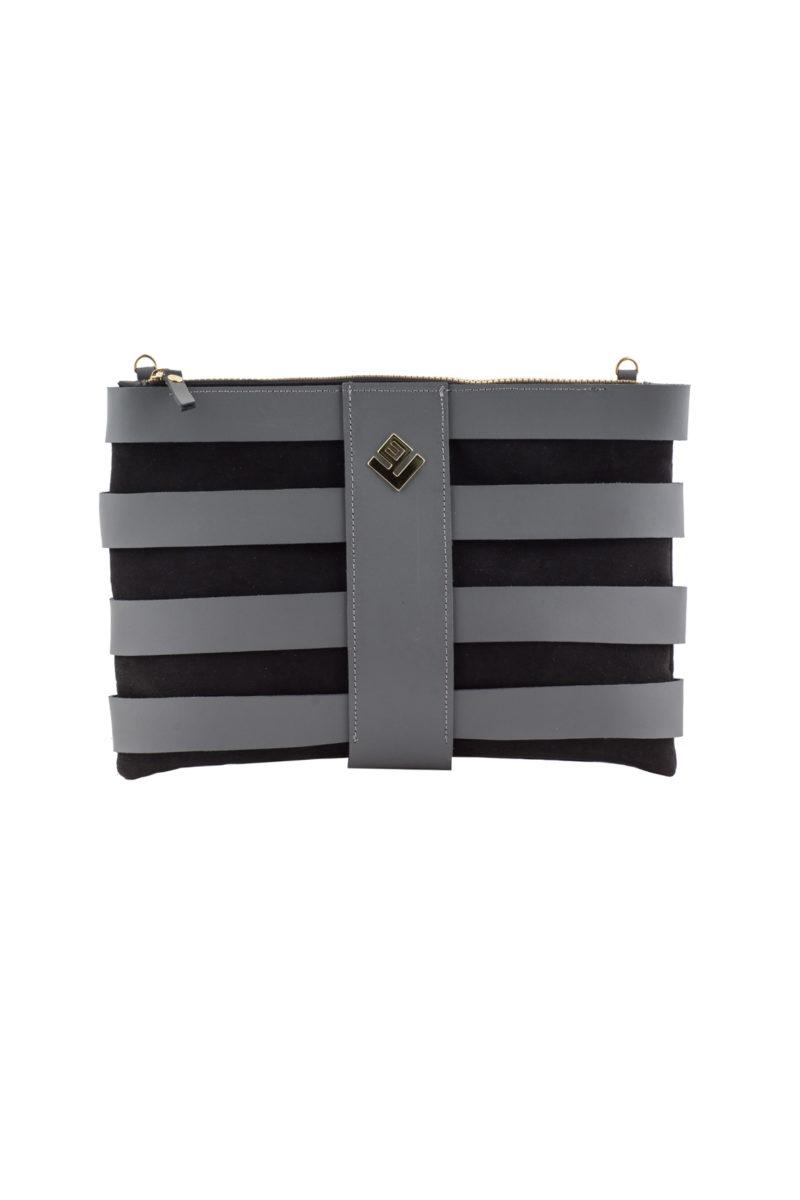 claudia handbag grey black