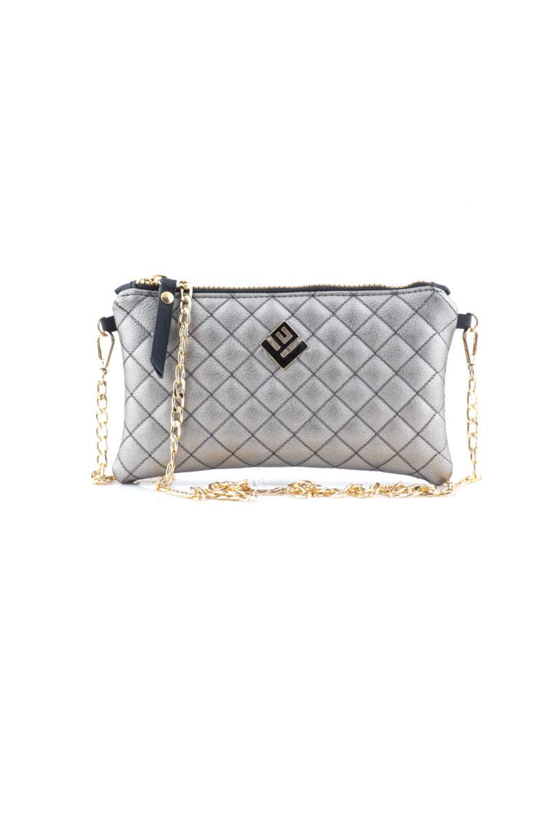 elegant remvi handbag gunmetal
