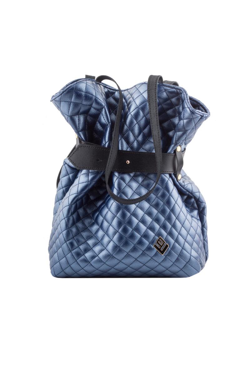 kamil remvi backpack metallic blue