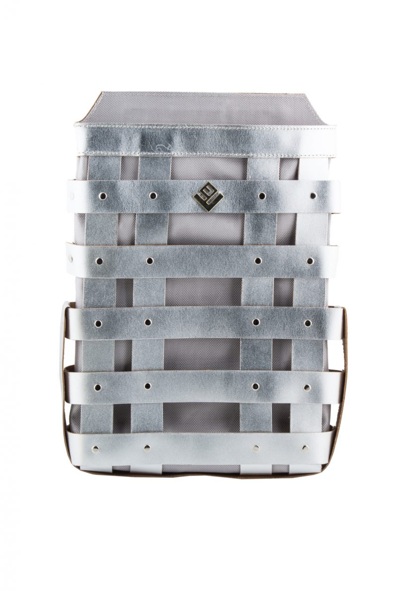 Claudia Leather Backpack Silver