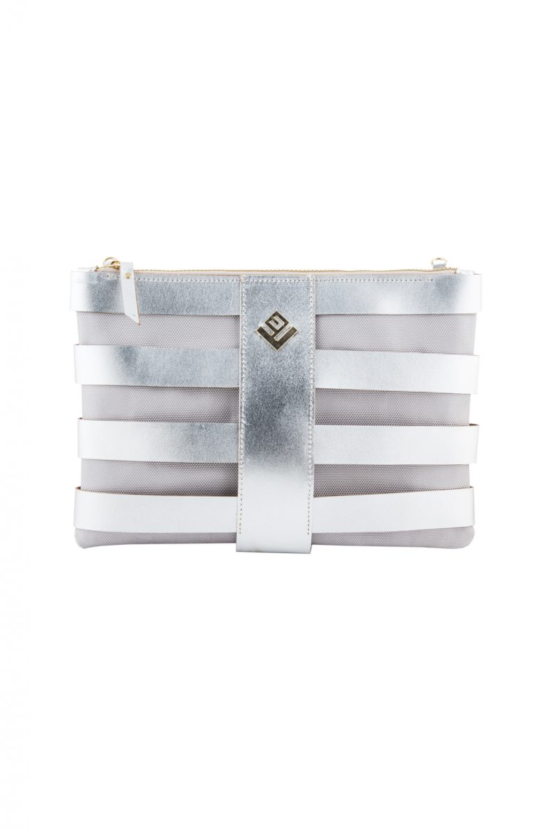 Claudia Leather Necessaire Silver