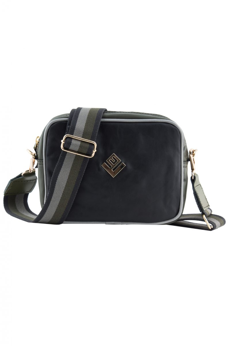 Favor Leather Shoulder Bag Black Olive