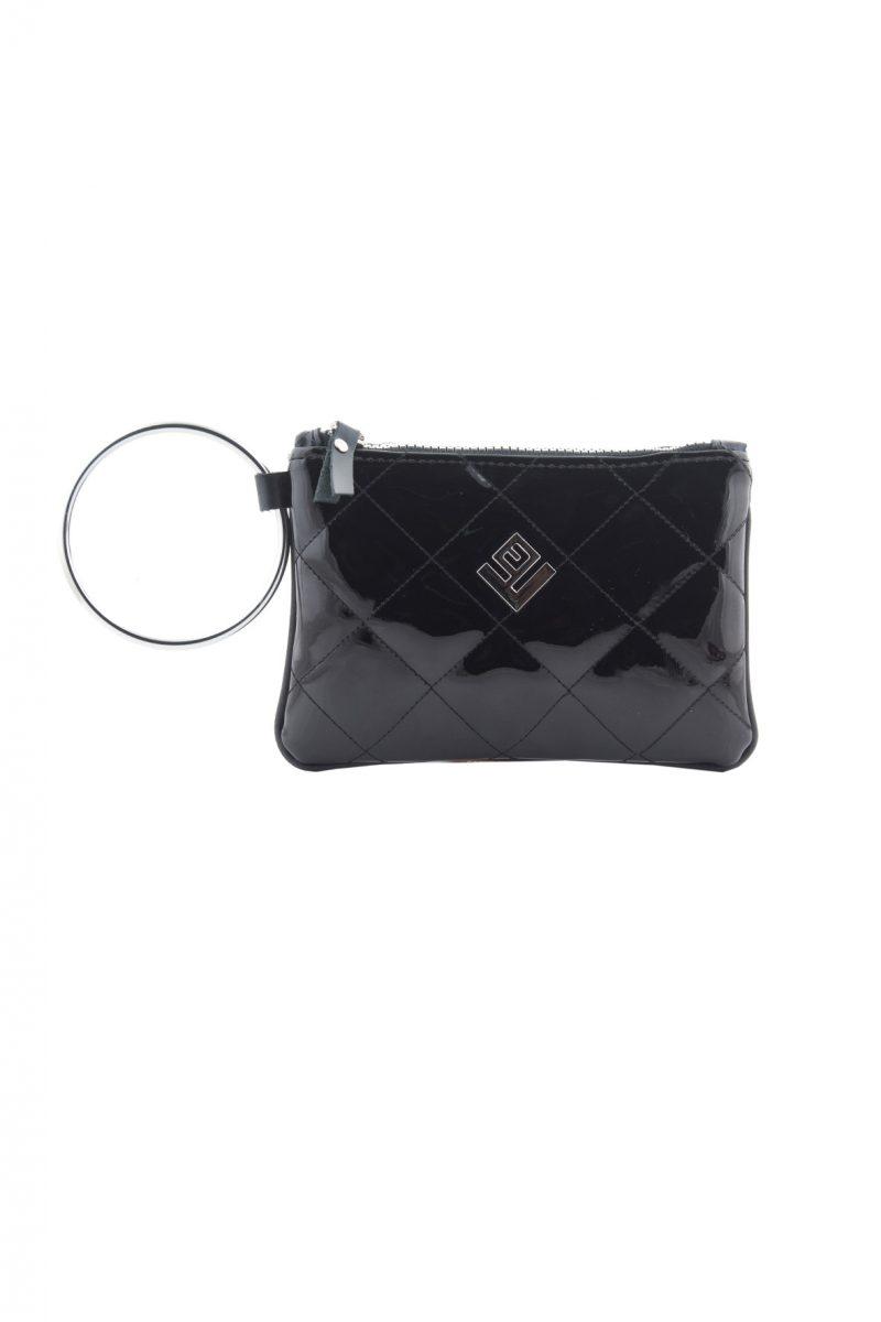 Bracelet Remvi Handbag Black L Silver Ring